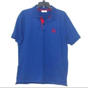 Selected Homme Identity Mens Blue Red Polo XXL